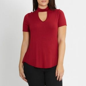 Tops - XL Jasmine Cut Out Neck Top